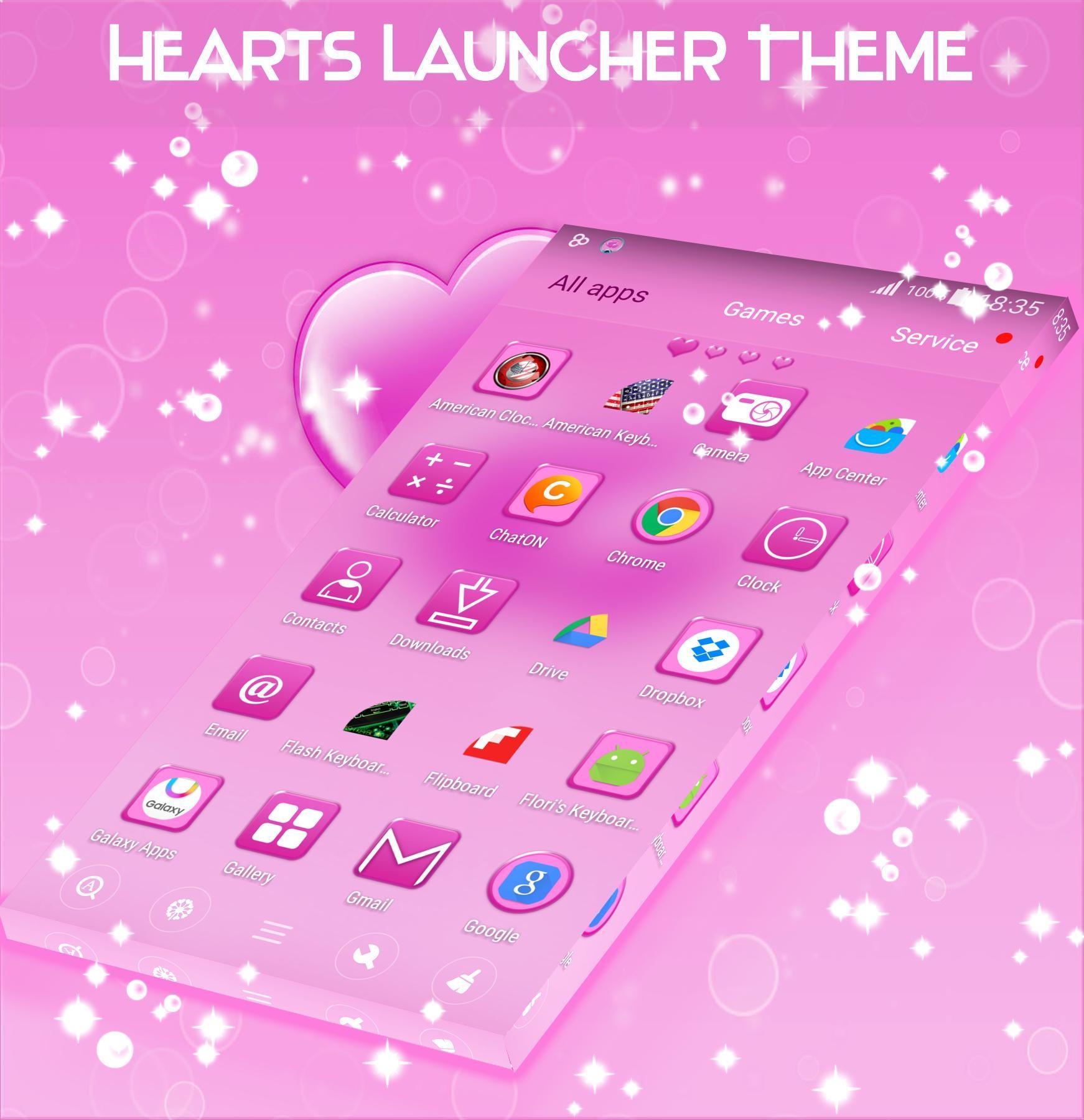 Hearts Launcher Theme screenshot 4