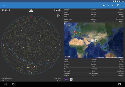 ISS Detector كاشف محطة الفضاء الدولية 10 تصوير الشاشة