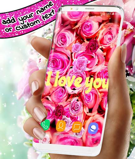 Spring Rose Live Wallpaper 🌹 Pastel Pink Themes screenshot 7