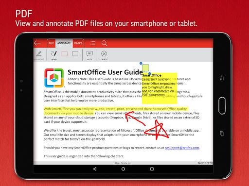 SmartOffice - View & Edit MS Office files & PDFs screenshot 11