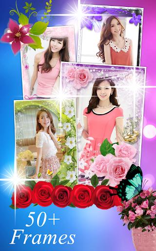 กรอบรูปดอกไม้ กรอบรูป แต่งรูป скриншот 6