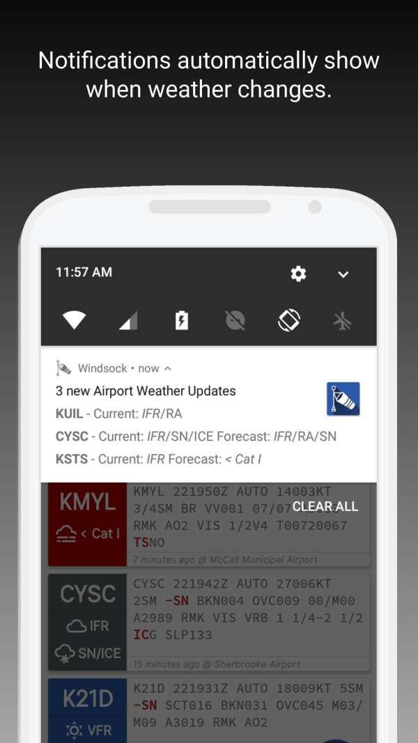 Windsock - Automatic METAR/TAF screenshot 3