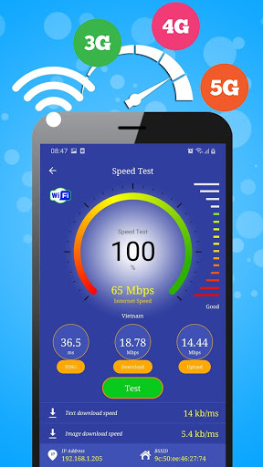 WiFi, 5G, 4G, 3G Speed Test -Speed Check - Cleaner screenshot 2