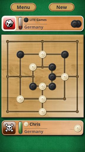 Nine men's Morris - Mills - Free online board game 1 تصوير الشاشة