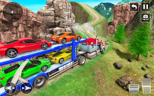 Crazy Car Transport Truck:New Offroad Driving Game screenshot 6