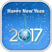 New Year 2017 Zipper Lock أيقونة