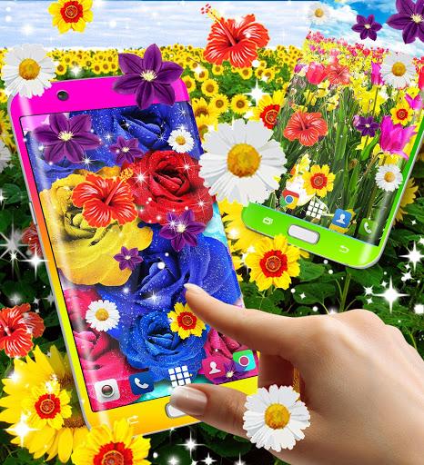 Flowers live wallpaper 6 تصوير الشاشة