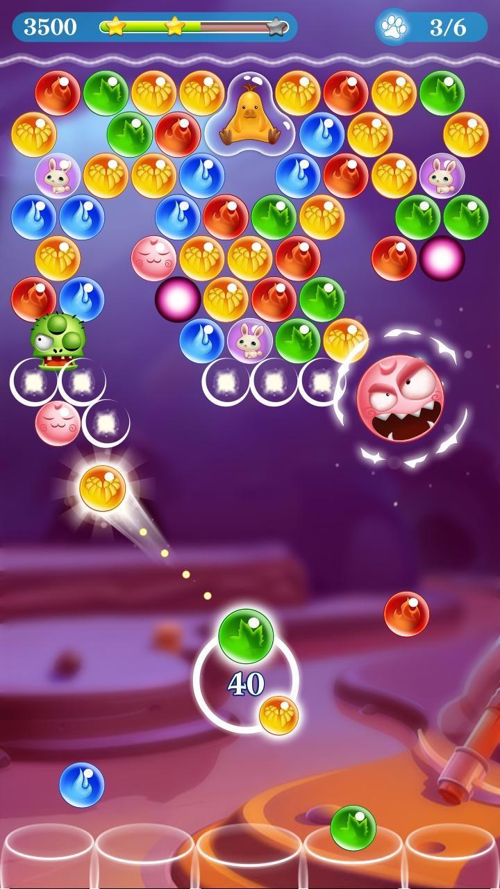 Monster Pet Pop Bubble Shooter 5 تصوير الشاشة