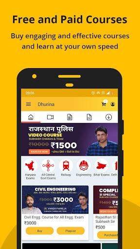 Dhurina - Live Classes, Online Test, eBooks, Notes screenshot 4