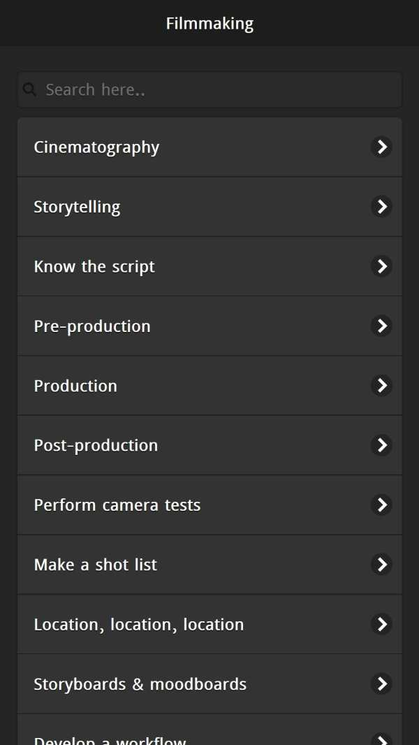 Learn Filmmaking screenshot 1