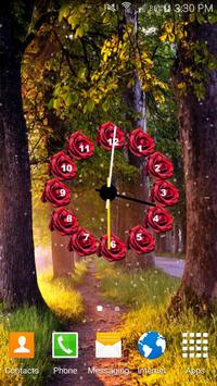 Flowers Clock Live Wallpaper 6 تصوير الشاشة