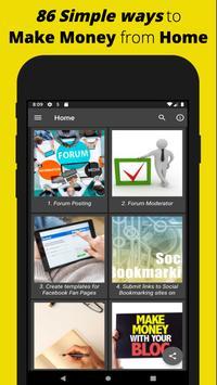 Make Money Online: Free Work from Home Ideas App screenshot 1