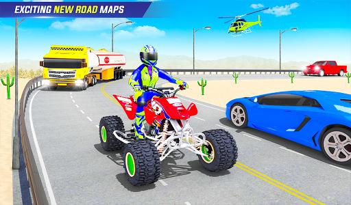 Light ATV Quad Bike Racing, Traffic Racing Games screenshot 13