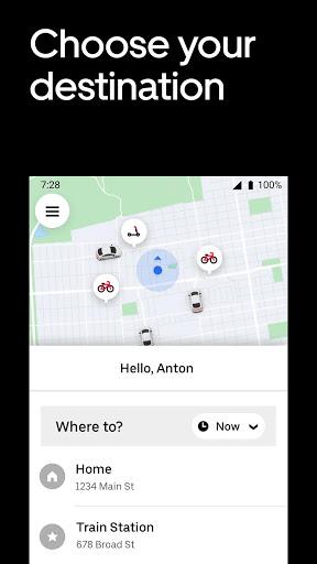 Uber - Request a ride screenshot 2