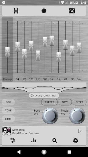 Poweramp v3 skin simple light screenshot 3