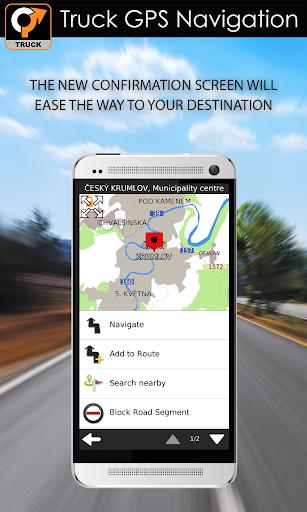Truck GPS Navigation 3 تصوير الشاشة