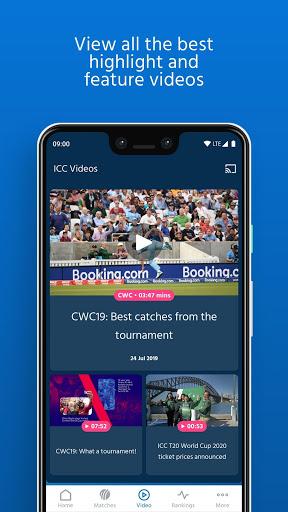 ICC - Live International Cricket Scores & News 4 تصوير الشاشة