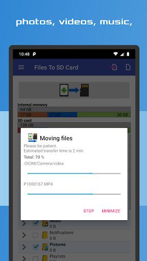 Files To SD Card 3 تصوير الشاشة