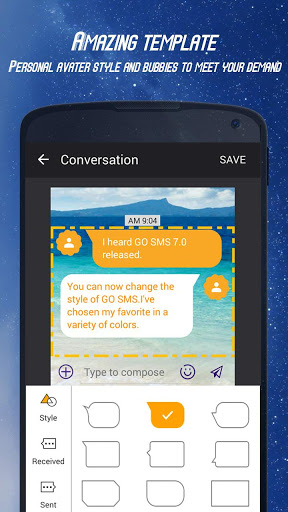 GO SMS Theme DIY 3 تصوير الشاشة