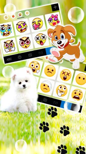 Cute White Puppy Keyboard Background screenshot 4