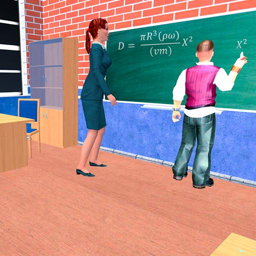 الظاهري مدرسة ثانوية المعلم 3D أيقونة