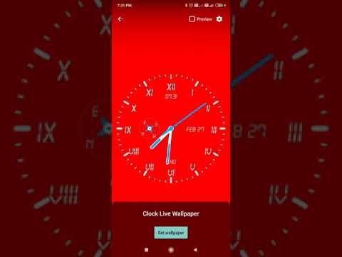 Clock Live Wallpaper screenshot 1