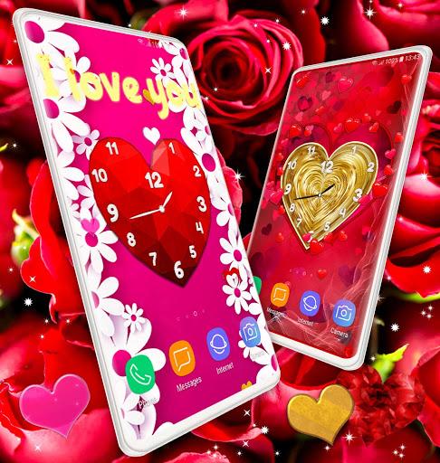 Love Clock Wallpaper ❤️ Hearts 4K Live Wallpaper screenshot 7