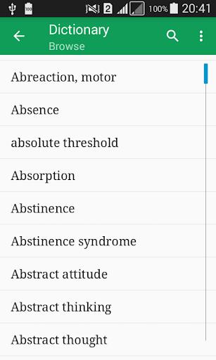 Psychology Dictionary Offline screenshot 1