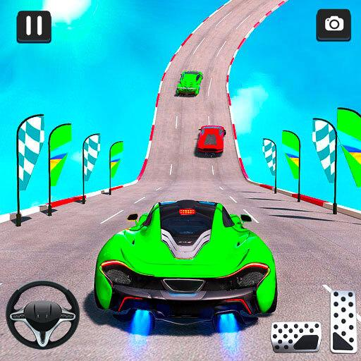 Mega Ramp Car Stunt Racing 3D - Impossible Roads icon