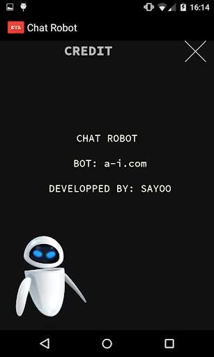 روبوت المحادثة EVA screenshot 5