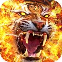 Flame Tiger Live Wallpaper on APKTom