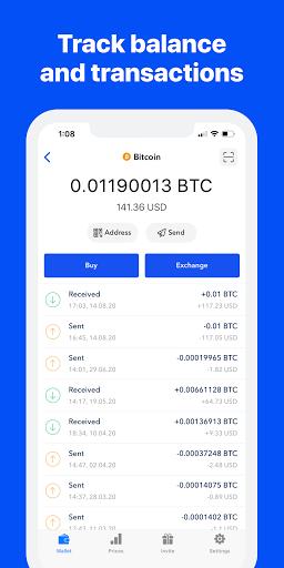 Bitcoin Wallet - Buy BTC 1 تصوير الشاشة