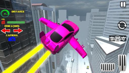 Real Light Flying Car Racing Simulator Games 2020 screenshot 6