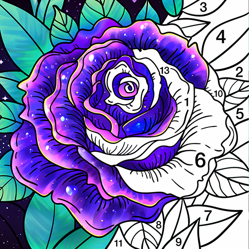Coloring Book - Color by Number & Paint by Number أيقونة