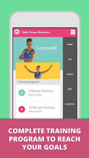 Daily Fitness Workouts screenshot 1