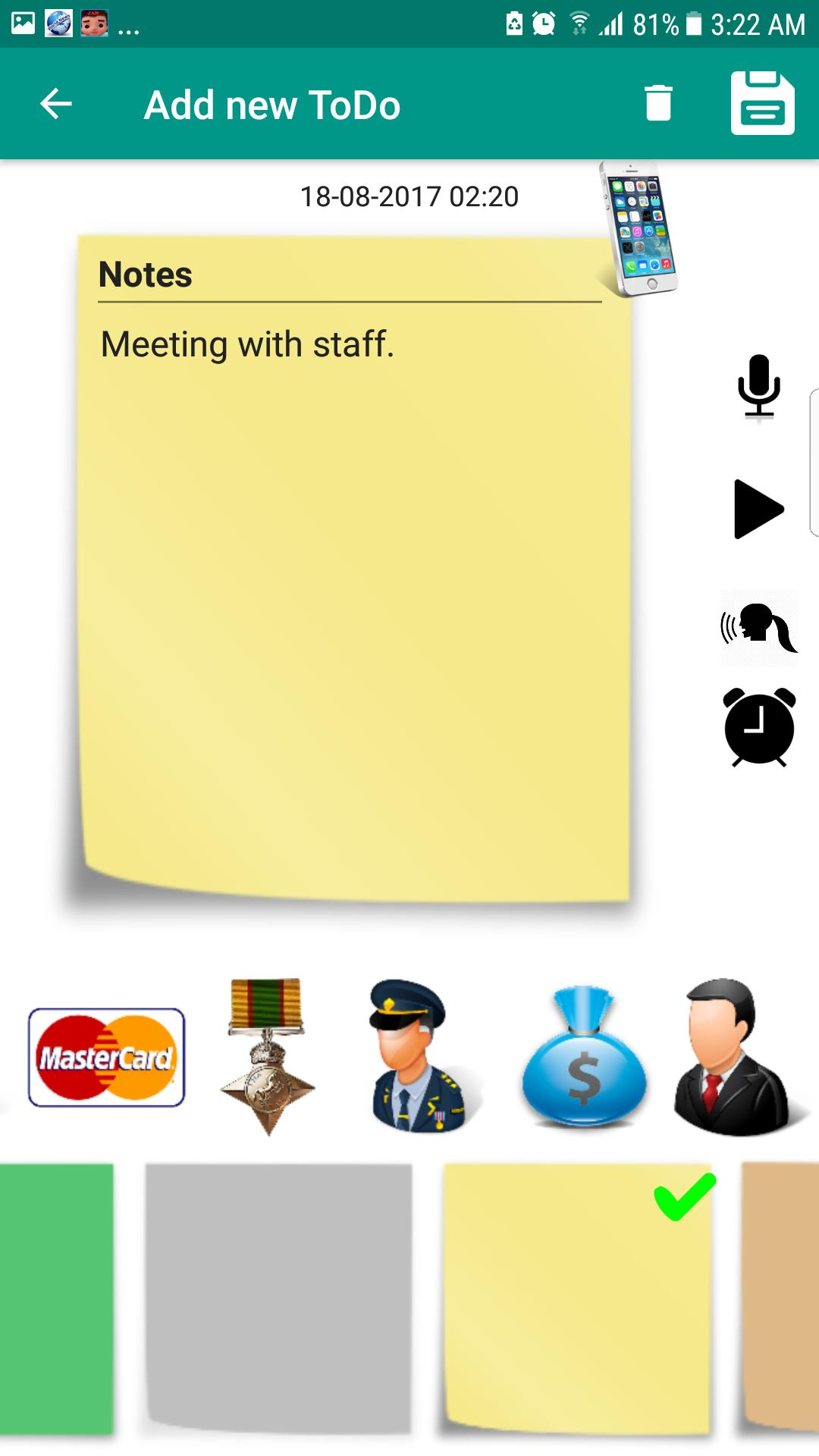 To Do List Notes Alarm Color Reminder Note Notepad screenshot 5