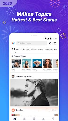 VClip - Ur Video Status, Indian Whatsapp Status screenshot 1