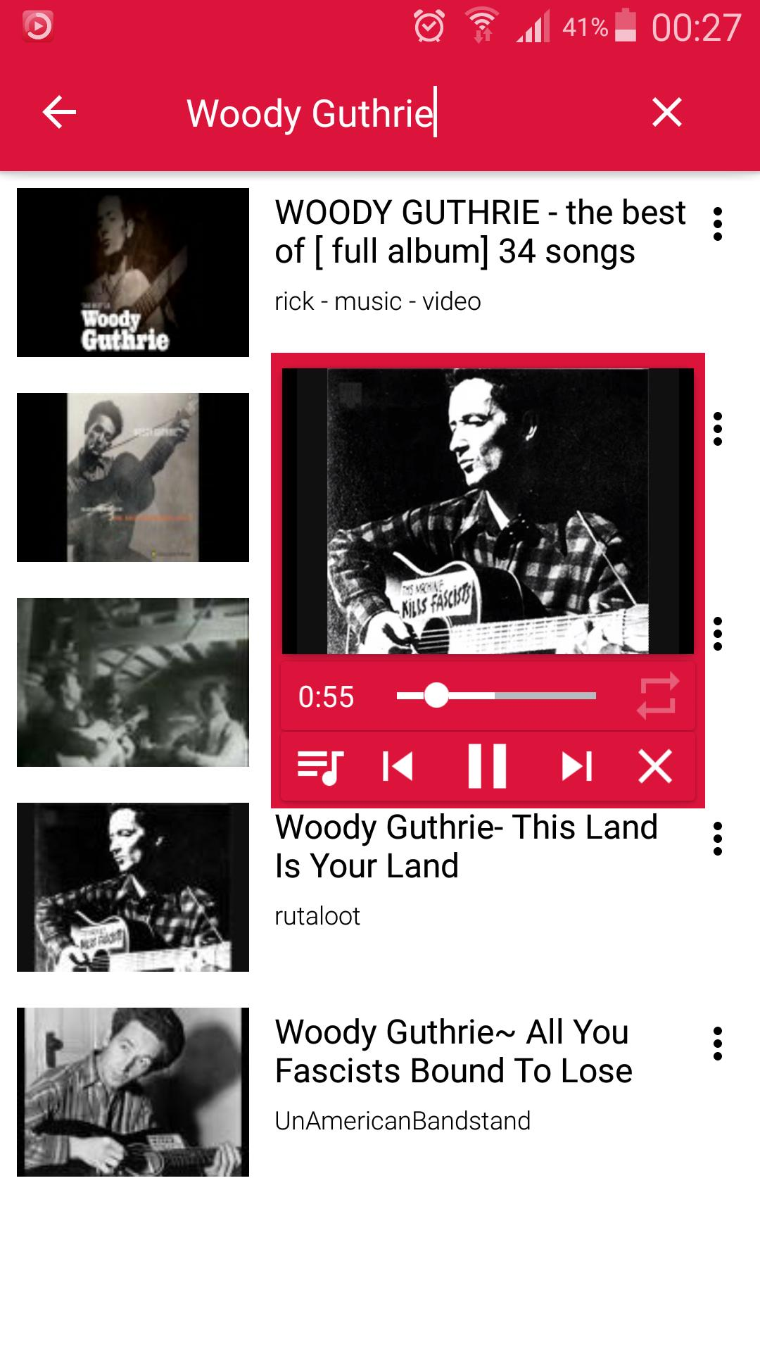 Floating IamTube Music Player screenshot 1