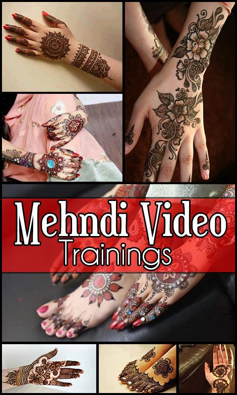 Mehndi Designs Video Trainings 1 تصوير الشاشة