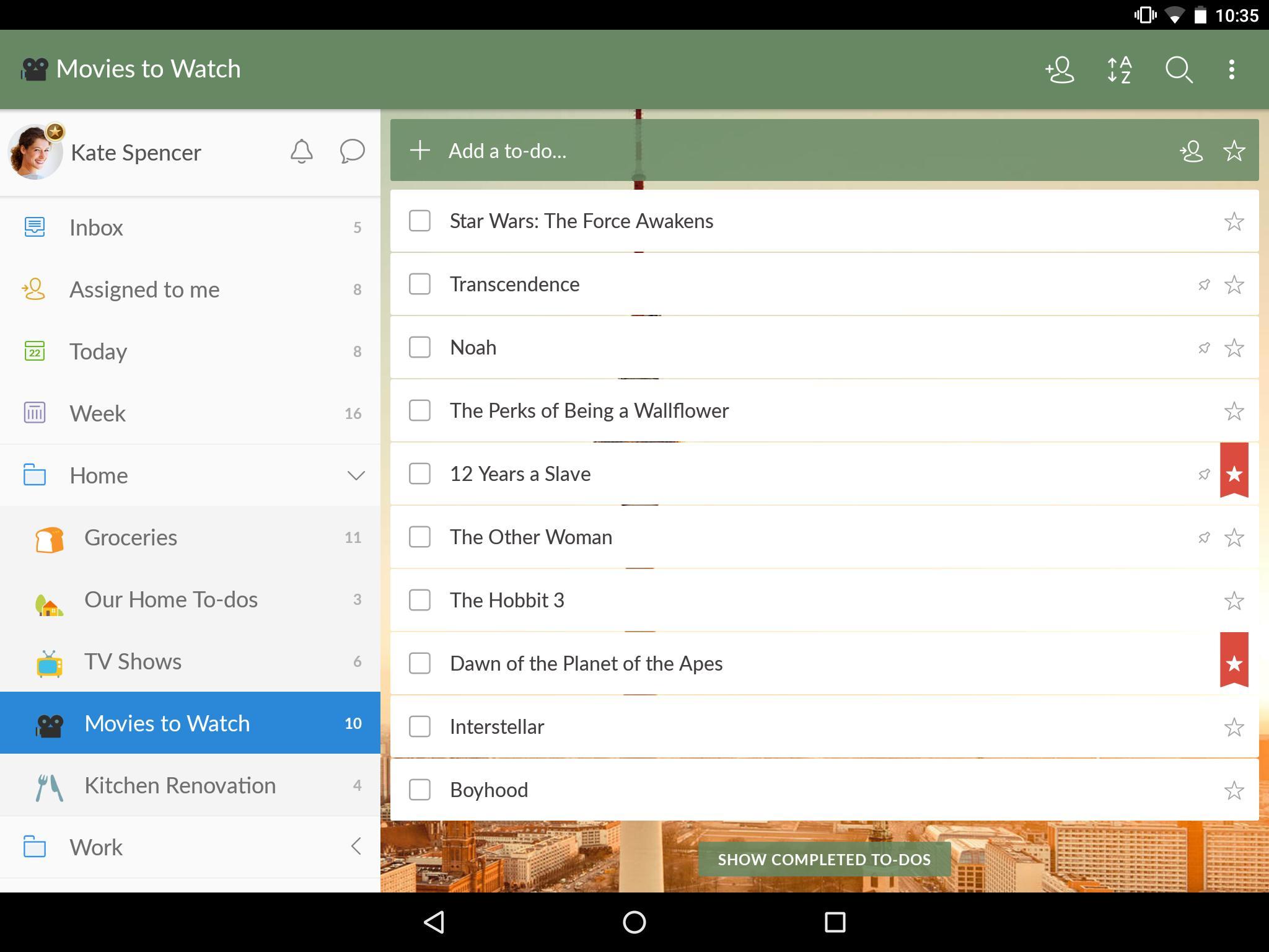 Wunderlist: To-Do List & Tasks 7 تصوير الشاشة