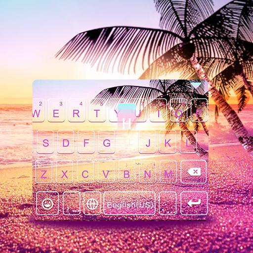 ثيم لوحة المفاتيح Sunsetbeach أيقونة
