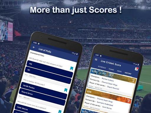 Live Score for IPL 2020 - Live Cricket Score 6 تصوير الشاشة
