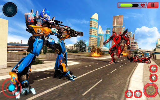 Grand Police Truck Robot War Transform Robot Games screenshot 13