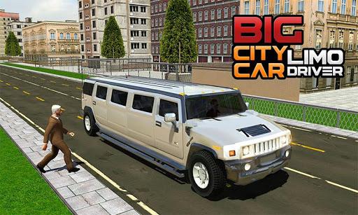 Big City Limo Car Driving Simulator : Taxi Driving 7 تصوير الشاشة