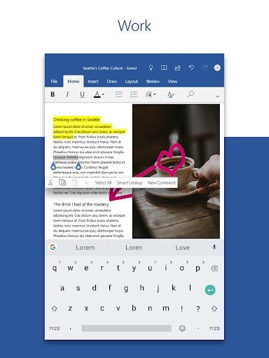 Microsoft Word: Write, Edit & Share Docs on the Go 13 تصوير الشاشة