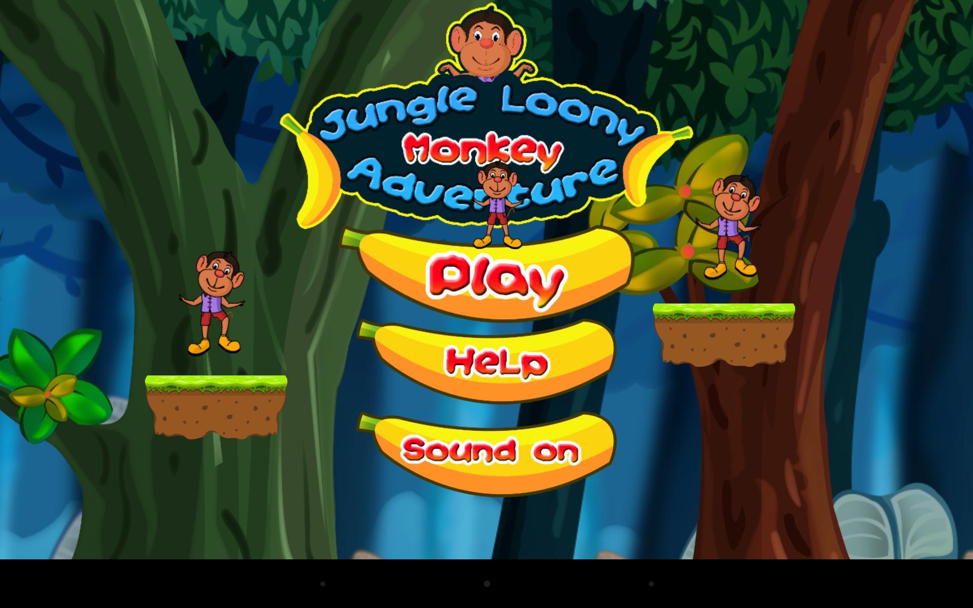 Jungle Loony Monkey Adventure 1 تصوير الشاشة