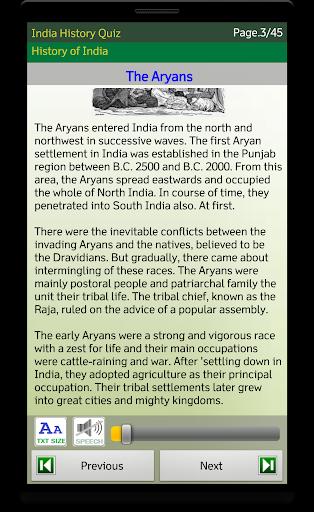 Indian History screenshot 3