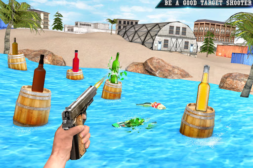 असली बोतल शूटिंग गन गेम्स- मुफ्त शूटिंग गेम्स 2020 स्क्रीनशॉट 1