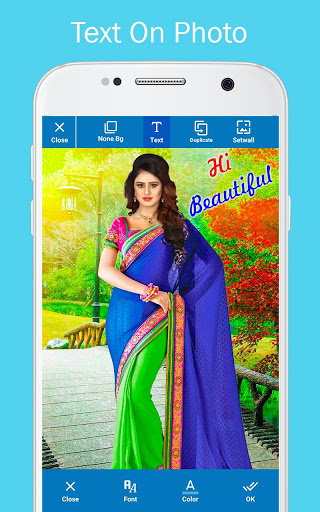 Woman Fancy Saree Photo Suit Editor 7 تصوير الشاشة