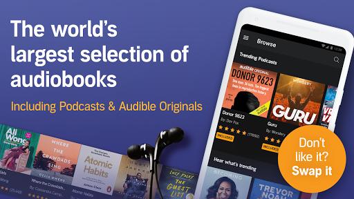 Audible: audiobooks, podcasts & audio stories screenshot 1
